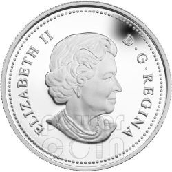 RHODODENDRON CRYSTAL DEW Moneda Plata Swarovski Crystal 20$ Canada 2012