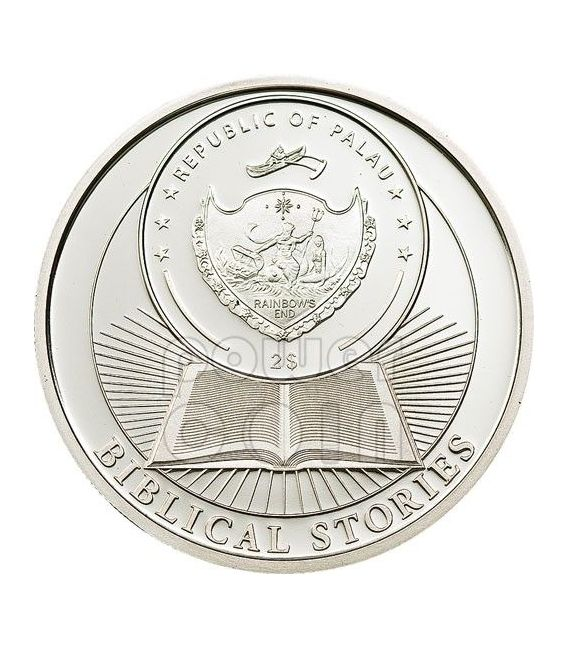 CAIN AND ABEL Biblical Stories Moneda Plata 2$ Palau 2011