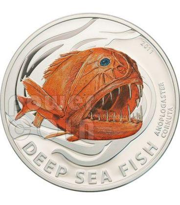 PESCE ACCETTA Deep Sea Fish Pesce Degli Abissi Moneta Argento 2$ Pitcairn Islands 2011