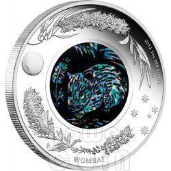 WOMBAT OPAL Australian Opals Series Silver Coin 1$ Australia 2012