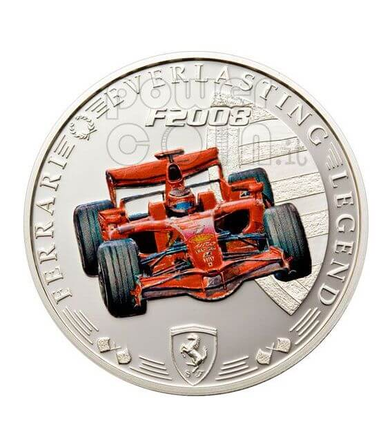 FERRARI F2008 Red Legend Coin 1$ Cook Islands 2008