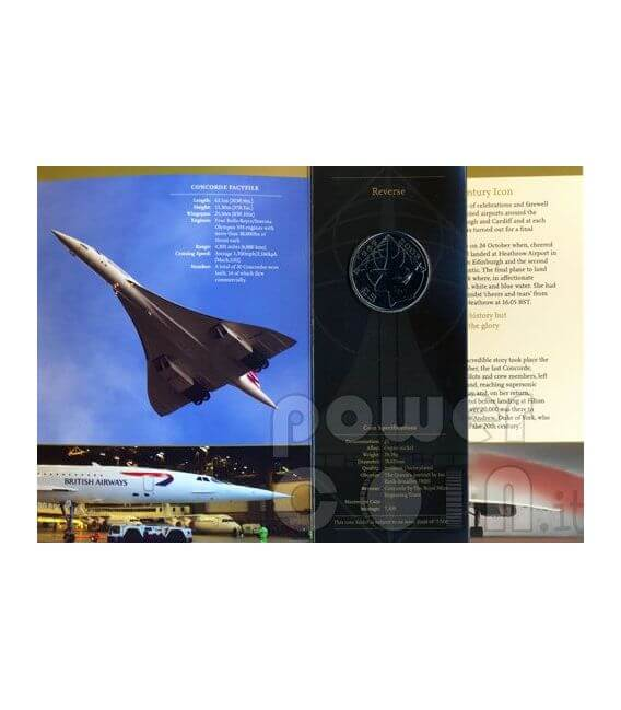 CONCORDE Airplane BU Münze Pack £5 Alderney UK Royal Mint 2008