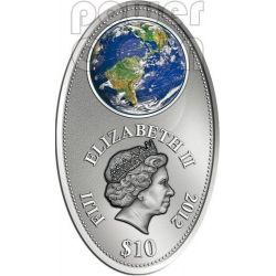 APOCALYPSE II ATLAS Mother Earth Maya Calendar Prophecy Moneda Plata 10$ Fiji 2012