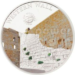 MURO OCCIDENTALE Western Wall Kotel Muro Del Pianto World Of Wonders Moneta Argento 5$ Palau 2012