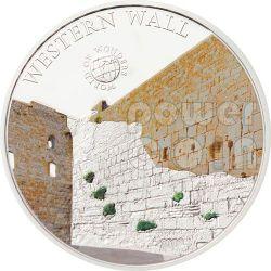 WESTERN WALL Kotel Jerusalem World Of Wonders 5$ Silver Coin Palau 2012