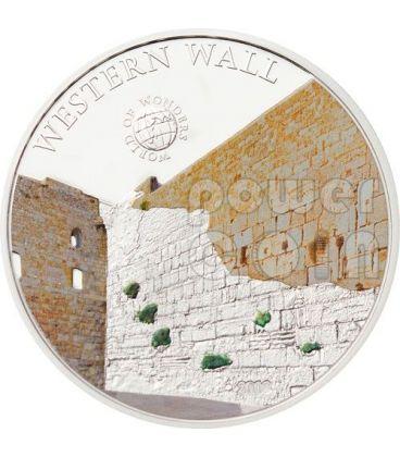 MURO OCCIDENTALE Western Wall Kotel Muro Del Pianto World Of Wonders Moneta Argento 5$ Palau 2012
