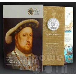 KING HENRY VIII TUDOR BU Moneda Pack £5 UK Royal Mint 2009