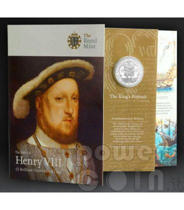 RE ENRICO VIII TUDOR Henry Moneta £5 BU UK Royal Mint 2009