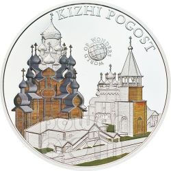 KIZHI POGOST Island Russia World Of Wonders 5$ Silver Coin Palau 2012