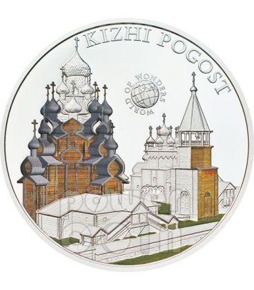 ISOLA DI KIZHI POGOST Russia World Of Wonders Moneta Argento 5$ Palau 2012