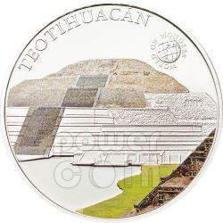 TEOTIHUACAN Messico World Of Wonders Moneta Argento 5$ Palau 2012