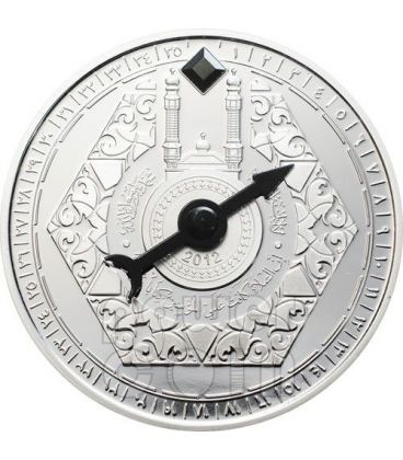 MECCA QIBLA KAABA COMPASS Magnetic Silver Coin 1000 Francs Niger 2012