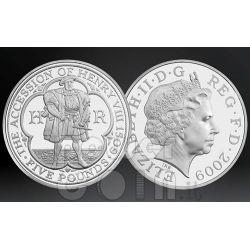 KING HENRY VIII TUDOR BU Монета Pack £5 UK Royal Mint 2009