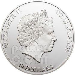 NANO EARTH World In Your Hand Moneda Plata 10$ Cook Islands 2012