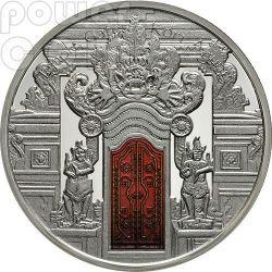 KORI AGUNG Cancelli Dei Templi Temple Gates Indonesia Induismo Moneta Argento 10$ Fiji 2012