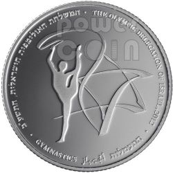 GYMNASTICS London Olympics 2012 Silver Proof Coin 2 NIS Israel 2011
