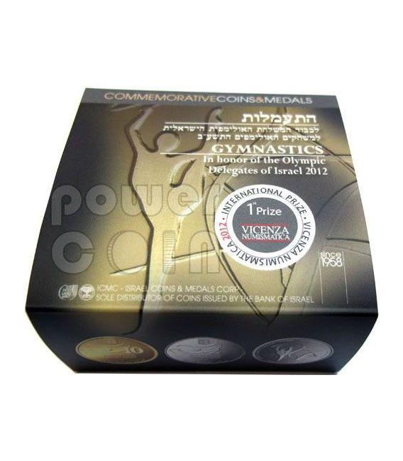 GYMNASTICS Ginnastica Olimpiadi Londra 2012 Moneta Argento Proof 2 NIS Israele 2011