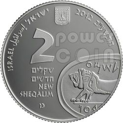 TEL MEGIDDO Armageddon Plata Proof Moneda 2 NIS Israel 2012