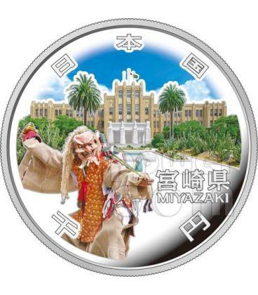 MIYAZAKI 47 Prefetture (22) Moneta Argento 1000 Yen Giappone 2012