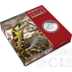 SERPENTE Snake Lunar Serie Moneta Argento Proof 1 Kg Kilo 30$ Australia 2013