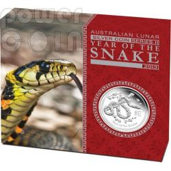 SNAKE Lunar Year Series 1 Oz Silber Proof Münze 1$ Australia 2013
