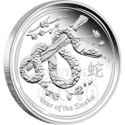 SNAKE Lunar Year Series 1 Oz Plata Proof Moneda 1$ Australia 2013