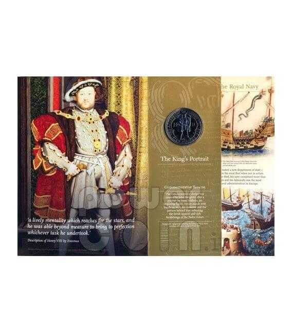KING HENRY VIII TUDOR BU Moneda Pack £5 UK Royal Mint 2009