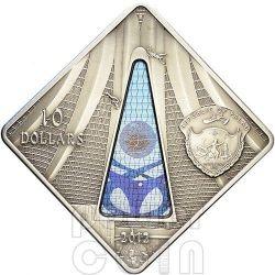 BRASILIA CATHEDRAL Nossa Senhora Aparecida Holy Windows Moneda Plata 10$ Palau 2012