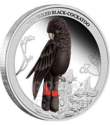 CACATUA NERO Black Cockatoo Birds of Australia Moneta Argento 50c Australia 2013