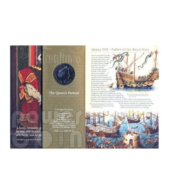 KING HENRY VIII TUDOR BU Münze Pack £5 UK Royal Mint 2009