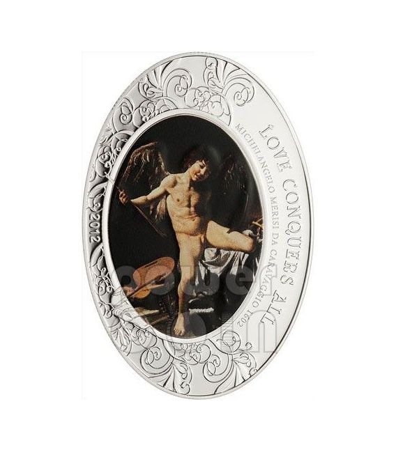 Amor Victorious Vincit Omnia Caravaggio Baroque Silver