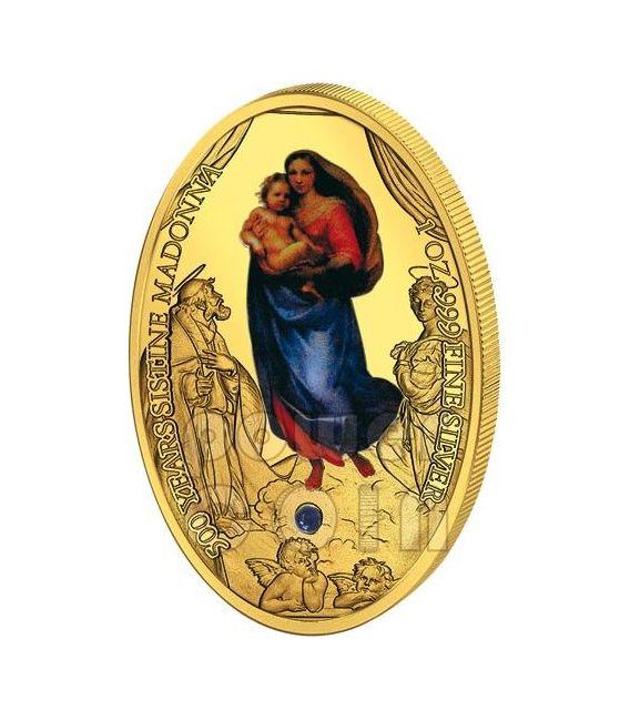 Sistine Madonna Foligno Raphael 500th Anniversary Silver