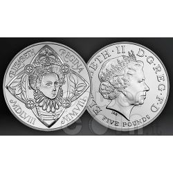 QUEEN ELIZABETH I BU Münze Pack £5 UK Royal Mint 2008