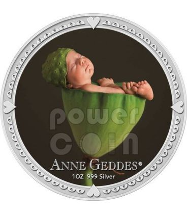 ANNE GEDDES BOY Baby Picture Photo Silver Coin 2$ Niue 2012