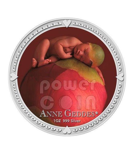 ANNE GEDDES GIRL Bambina Fotografia Moneta Argento 2$ Niue 2012