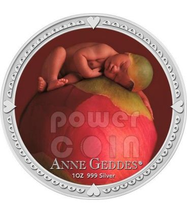 ANNE GEDDES GIRL Baby Picture Photo Silver Coin 2$ Niue 2012