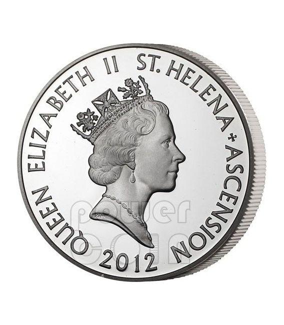 X CASH East India Company Silber Münze 10 Pence Saint Helena Ascension Island 2012
