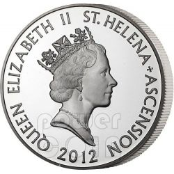X CASH East India Company Silver Coin 10 Pence Saint Helena Ascension Island 2012