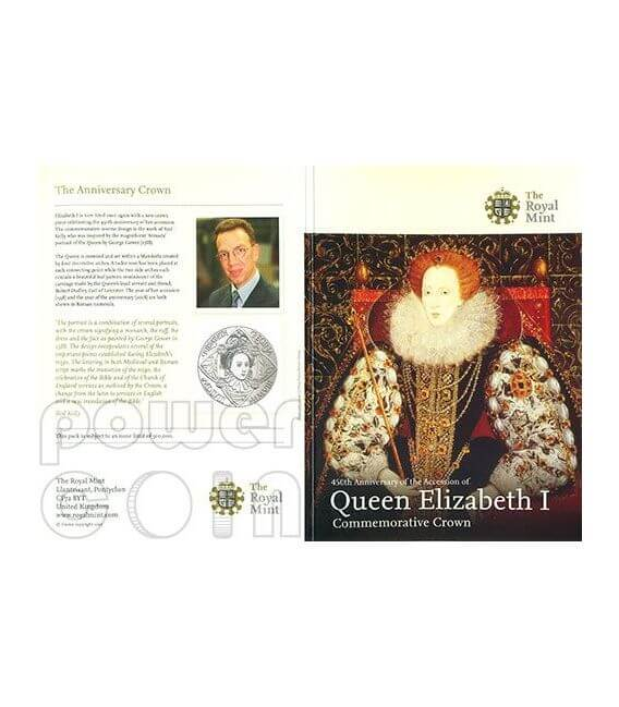 REGINA ELISABETTA I Moneta £5 BU UK Royal Mint 2008