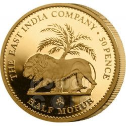 HALF MOHUR East India Company Mughal Empire Gold Coin 50 Pence Saint Helena Ascension Island 2012