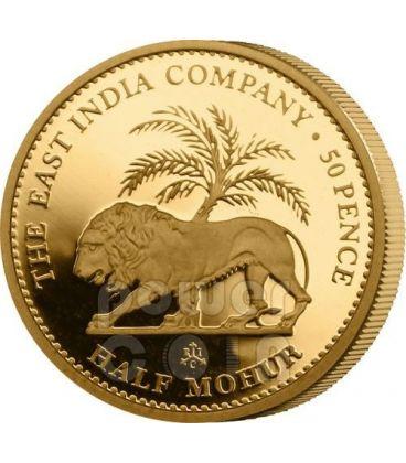 HALF MOHUR East India Company Mughal Empire Gold Coin 50 Pence Saint Helena Ascension Island 2012