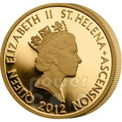 HALF MOHUR East India Company Mughal Empire Moneda Oro 50 Pence Saint Helena Ascension Island 2012