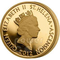 HALF MOHUR East India Company Mughal Empire Золото Монета 50 Пенсов Остров Святой Елены 2012