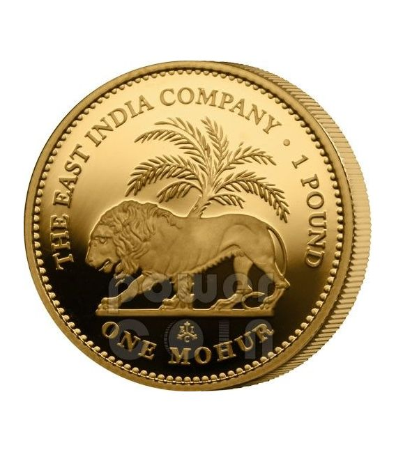 ONE MOHUR East India Company Mughal Empire Moneda Oro 1 Pound Saint Helena Ascension Island 2012