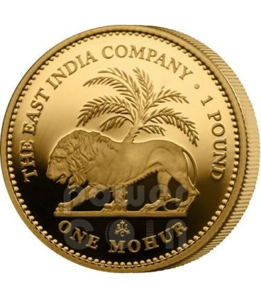 ONE MOHUR East India Company Mughal Empire Gold Coin 1 Pound Saint Helena Ascension Island 2012