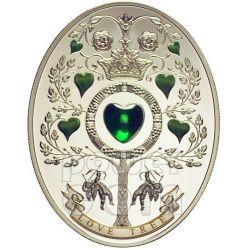 LOVE TREE Uova Imperiali Faberge Moneta Argento 1$ Niue 2013