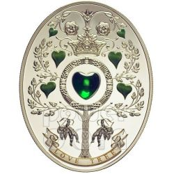 LOVE TREE Uova Imperiali Faberge Moneta Argento 1$ Niue Island 2013