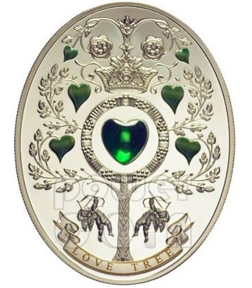 LOVE TREE Imperial Eggs Faberge Silver Coin 1$ Niue Island 2013