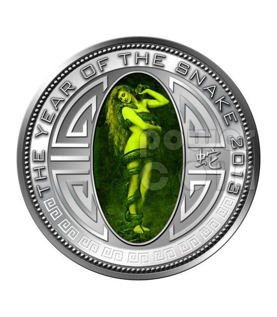 SNAKE LILITH Lunar Year Silber Proof Münze 5 Won North Korea 2013