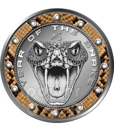 MORSO DI SERPENTE Snake Snakebite Lunar Serie Moneta 1$ Niue 2013